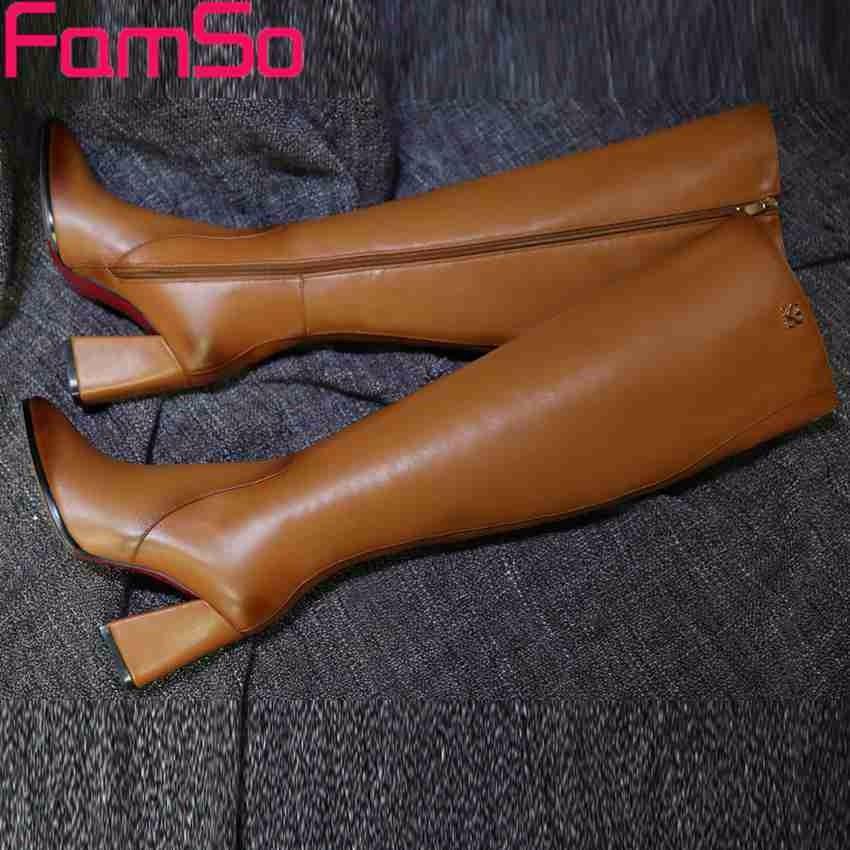 ซื้อ 2016ใหม่สไตล์R Etroผู้หญิงบู๊ทส์สีดำรองเท้าส้นสูงเหนือเข่ารองเท้าออกแบบหญิงฤดูหนาวรองเท้าหนังแท้SBT4176