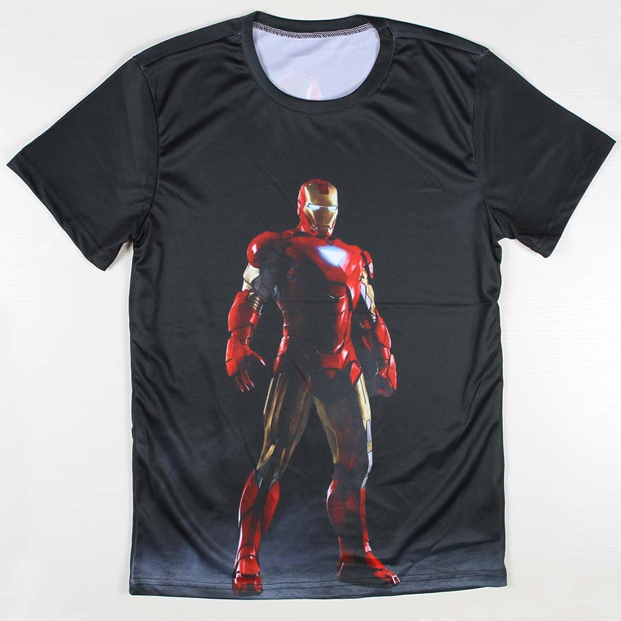 New Fashion Iron Man 3D T-shirt Casual Summer Men T Shirt Short Sleeve Men Top Tees Plus Size Free Shipping(China (Mainland))
