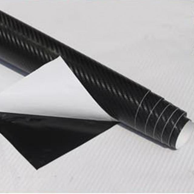 Top Selling 30*127cm Waterproof 3D Carbon Fiber Vinyl Wrap Sheet Roll Film Car Sticker Decal Sheet For Car Auto Vehicle Detail