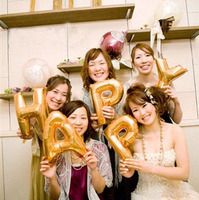 DIY decoration party balloons Wholesale Gold Letter Foil Balloons A-Z For Wedding Birthday party decoration balloons