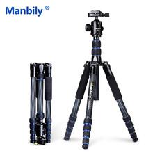 Manbily CZ302 Профессиональный Компактный Углеродного Волокна Штатив Монопод и Шаровой Головкой Для DSLR Камеры/Портативный Путешествия Штатив Камеры Стенд(China (Mainland))