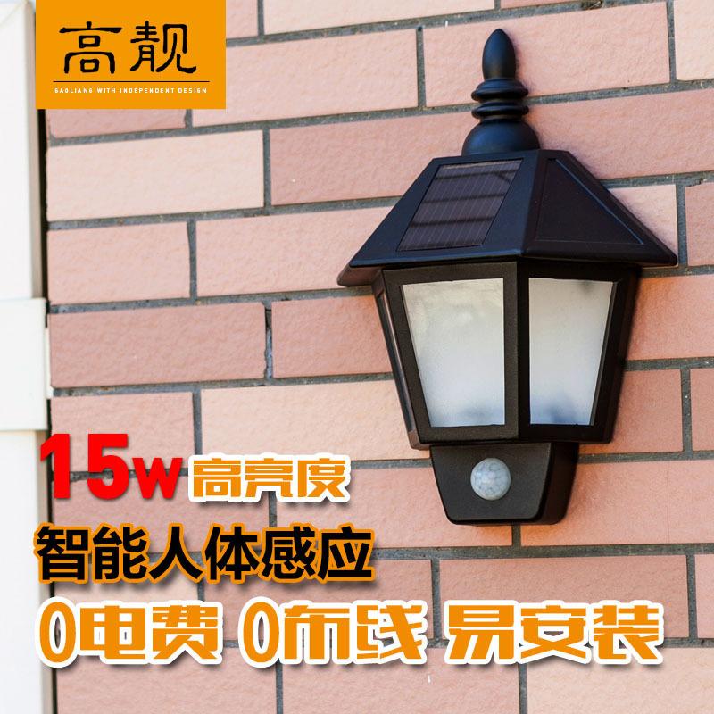 Gao Liang LED solar lights hexagonal body sensors and a half wall lamp wall lamp aisle lights garage door headlight lamp(China (Mainland))