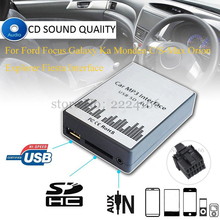 Buy New USB SD AUX Car MP3 Music Player Adapter Car Charger Ford Focus Galaxy Ka Mondeo S/C-Max Orion Explorer Interface for $35.40 in AliExpress store