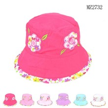 2015 New Spring and Summer Flower Caps Children's Bucket Hats Cute Floral Print Sun Hat Baby Cap(China (Mainland))