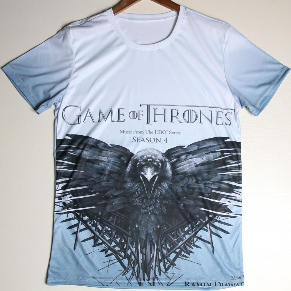 Game Of Thrones T Shirts Men Putin USA flag 3D T-Shirt O Neck Egypt Print Flower Man tshirt Euro Size Mens Tee Top Free Shipping(China (Mainland))