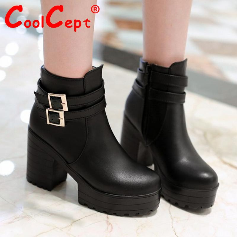 women high heel half short ankle boots autumn winter botas quality motorcycle footwear warm heels boot shoes P19525 size 34-39<br><br>Aliexpress