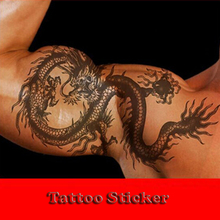 Evil Dragon Strong Man Temporary Tattoo Stickers Body Art Painting Tattoo stickers.20.18226.Min order 12 items mixed.(China (Mainland))