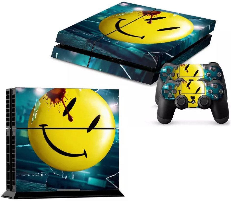 Smile Vinyl Sticker Decor Skin For SONY Playstation 4 Decal For PS4 Console PS4 & 2 Controller Skins(China (Mainland))