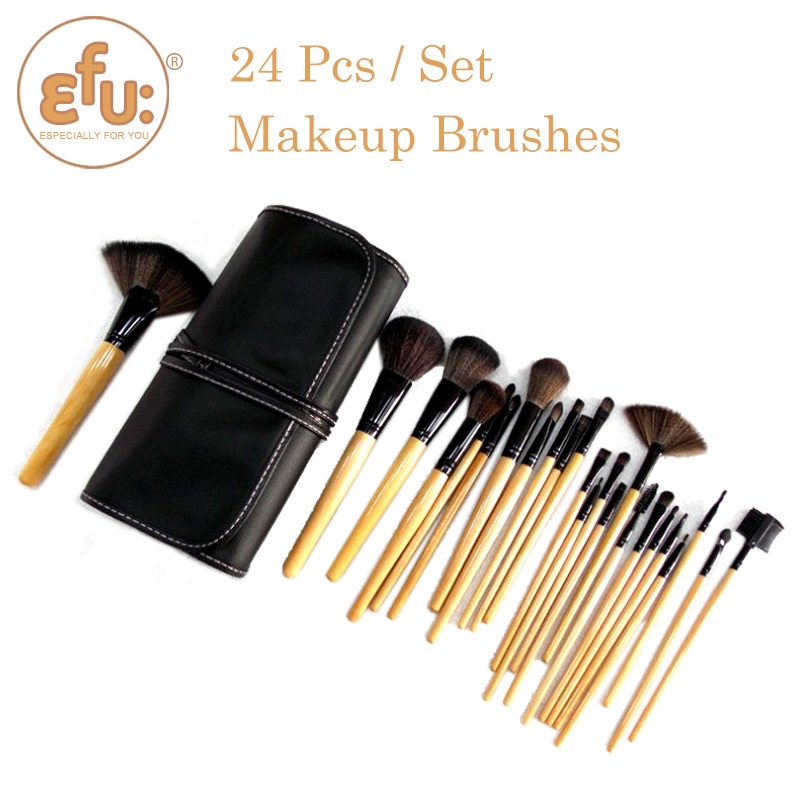 2015 Professional 24 pcs Makeup Brush Set tools Make-up Toiletry Kit Wool Brand Make Up Brushes Set #1424(China (Mainland))