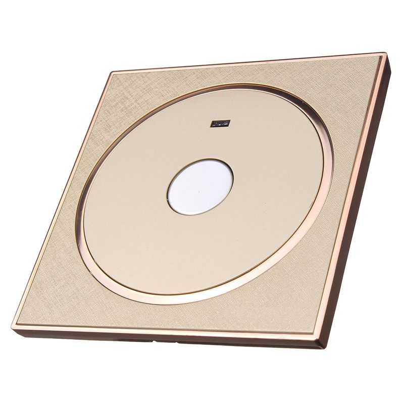Type 86 Panel Touch Sensitive Wall Switch Light Lamp Round Intelligent Smart Home Touch Delay Switch Socket Champagne Gold 220V(China (Mainland))