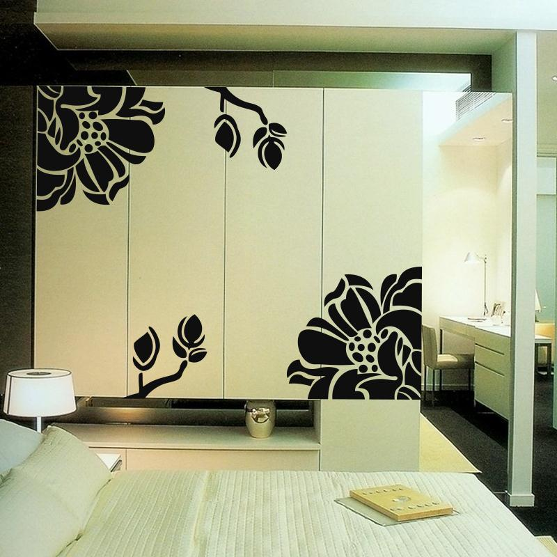 adesivos para parede Card kitchen cabinet door stickers wardrobe sliding flower wall - Emily Tang's Sotre store