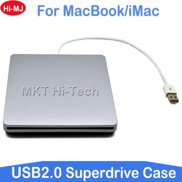 Super Slim External USB 2.0 Superdrive Case Enclosure for Macbook Pro Air iMAC Slot in 9.5mm 12.7mm SATA Optical Drive Optibay(China (Mainland))