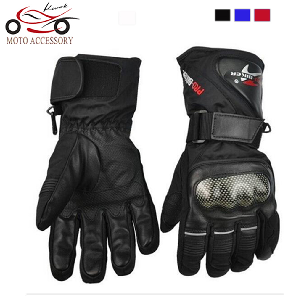 Pro biker Cycling Motorcycle Gloves Winter Warm Waterproof Windproof font b Protective b font Sports Racing