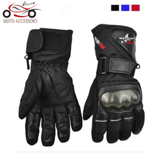 Pro-biker Cycling Motorcycle Gloves Winter Warm Waterproof Windproof Protective Sports Racing Gears Accessories Guantes luvas
