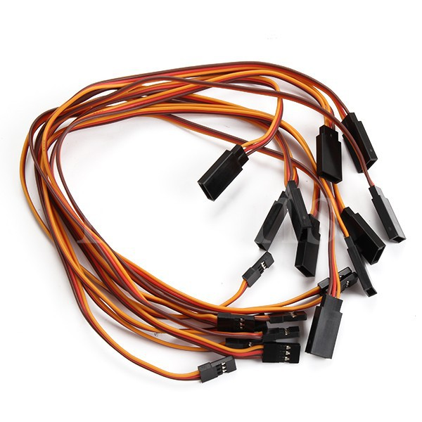 10pcs 300mm Servo Extension Lead Wire Cable Cord For Fut JR(China (Mainland))