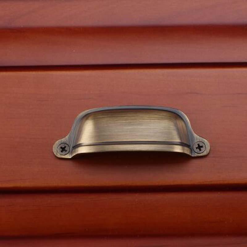 75MM unfold install vintage furniture handle bronze kichen cabinet pull knob antique brass dresser cupbord door handle cap pulls<br><br>Aliexpress