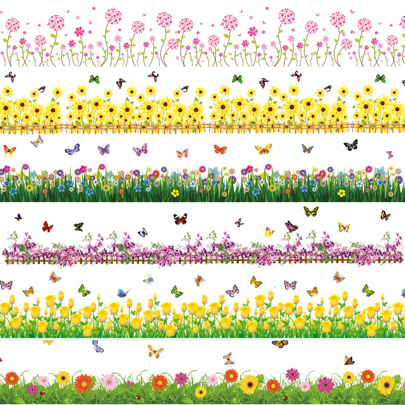 Home accessories waistline wall stickers room decoration wall sticker wall stickers(China (Mainland))