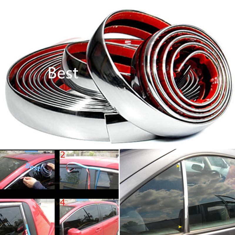 5M Car Styling Chrome Decor Strip Moulding Styling Trim Sticker 6MM 8MM 10MM 12MM 15MM 18MM 20MM 22MM 25MM 30MM for Honda Toyota(China (Mainland))