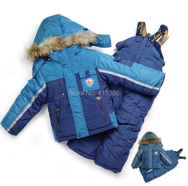 ST095 Free Shipping 2014 New Children Winter Windproof Clothing Sets Boy Warm Ski Suit Toddlers Comfortable Sport Garment Retail(China (Mainland))