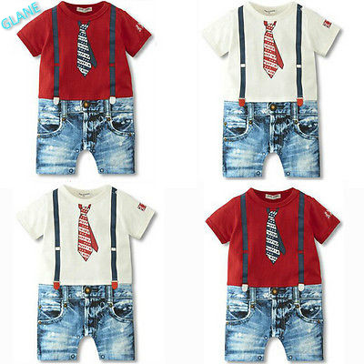 2016 Baby Boys Kids Newborn Infant Overalls Romper Shorts Bodysuit Outfit Clothing US Infant Bodysuit Carters Baby Boy Clothes(China (Mainland))
