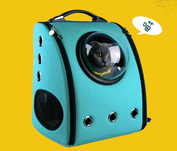 Luxury Small Pet Backpack Carrier Dog Shoulder Bag Cat Puppy Mobile Bed Airplane Carrier Car Seat Travel Tote Cage Space Capsule(China (Mainland))