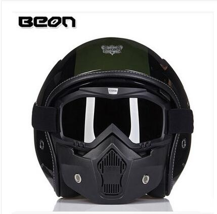 BEON half helmet motorcycle helmet safety helmet military helmet personality(China (Mainland))