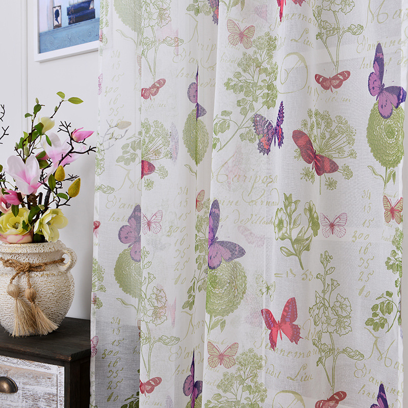 soft fabric sheer tulle curtains for bedroom colorful