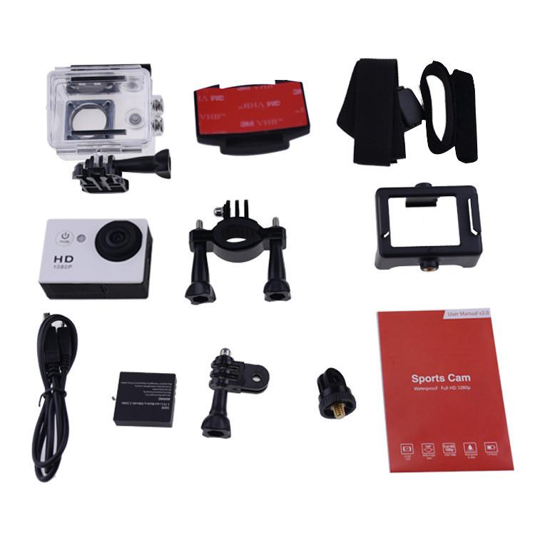 Gopro Style A9 Motion Digital camera Car Digital camera Recorder 1080P Full HD 5.0MP 2.0 Inches Screen Helemet 30M Waterproof DV DVR 2015 Newest (4)