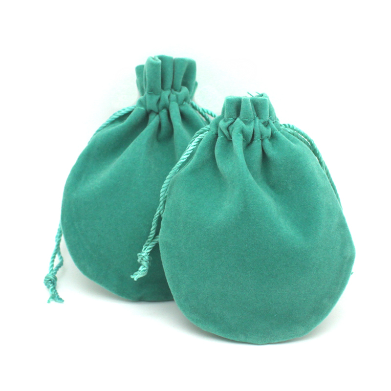top quality brand drawstring velvet jewelry bag wholesale acid blue color 2 model 8*9.5cm and 8.5*7cm(China (Mainland))