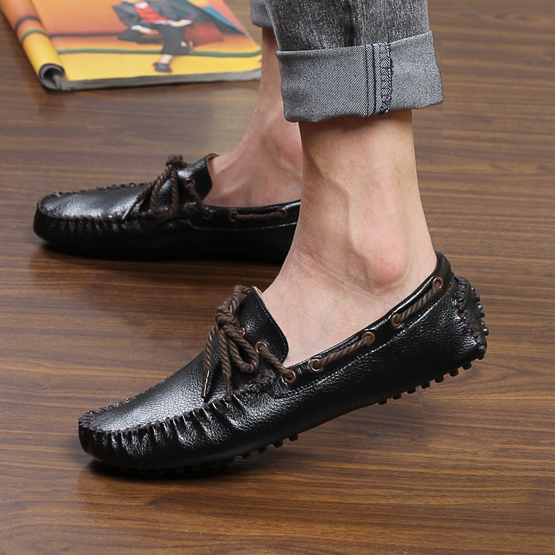 SEGPEN High Quality Genuine Leather Shoes Man Flat Shoes Fashion Mens Casual Shoes Brand Loafers Men Plus Size  Free Shipping<br><br>Aliexpress