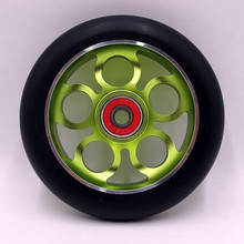 Buy 2 wheels (including ABEC-9 bearings)! Free 110mm stunt scooter wheels, rollers ski wheels, scooter wheels for $28.50 in AliExpress store