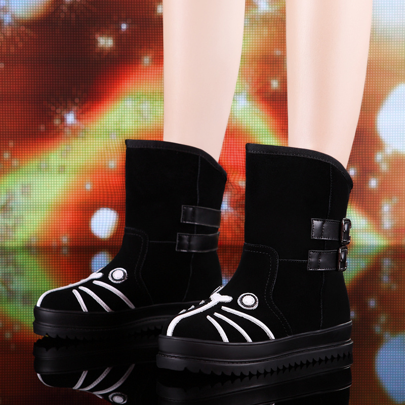 Free Shipping, fashion 2013 new model cat and dog boots winter womens snow boot for lady<br><br>Aliexpress