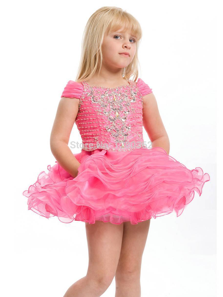Wedding Little Girls Party Dresses pink party dress little girl best dresses 2017 princess scoop short belt and handle made pretty s party