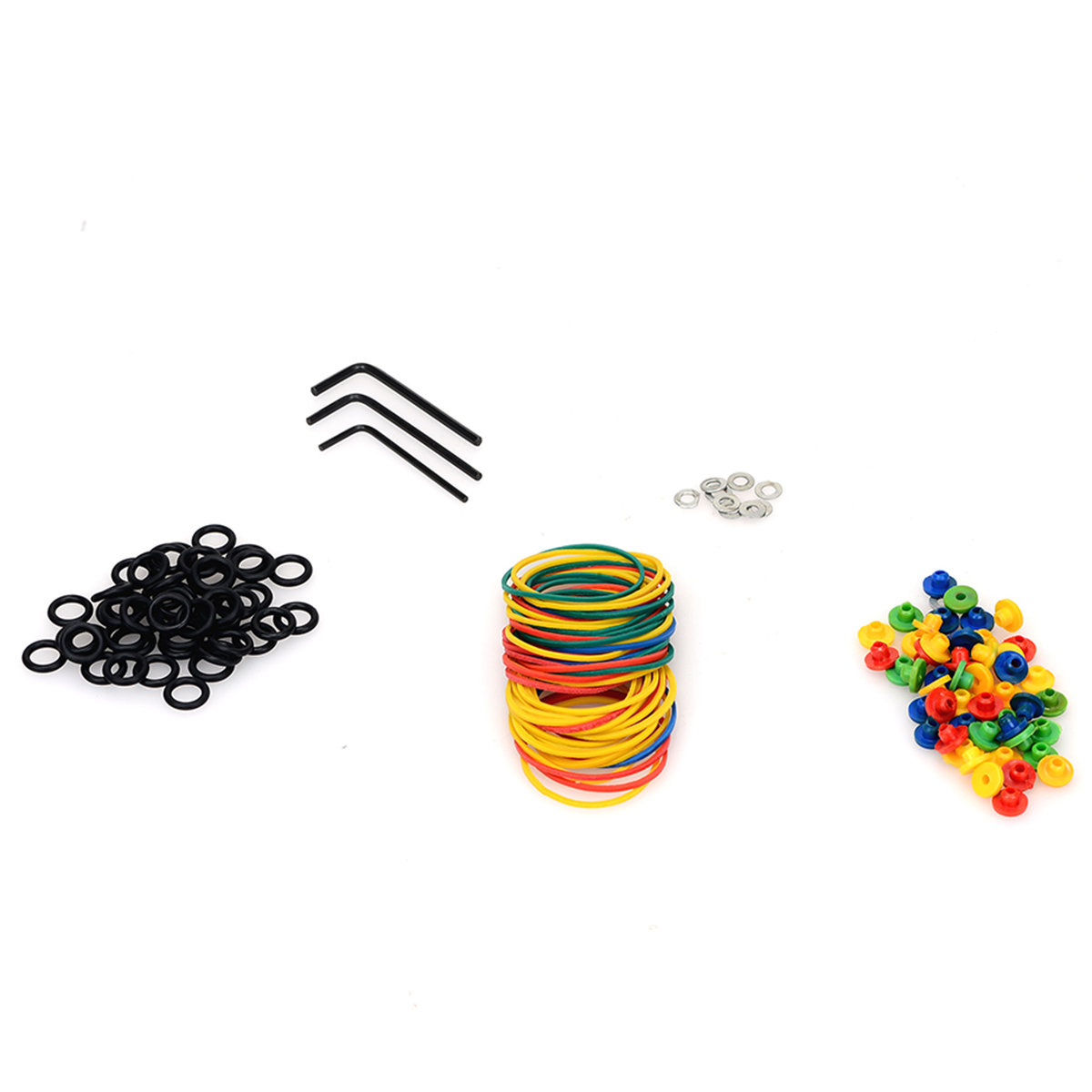 Tattoo Accessories Parts Kit Set of Tattoo Machine Rubber Band Shockproof O-ring Grommets Nipples Wrench Spacers Tattoo Kit