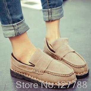 Time-limited special offer casual oxfords shoes simple confortable lazy shoes favorite college wind women shoes #C076(China (Mainland))
