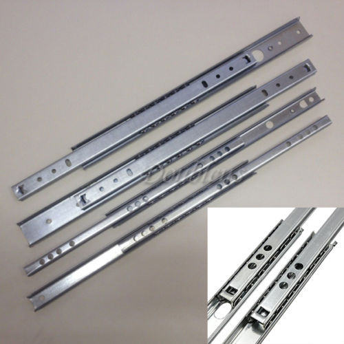 2PCS/Lot 390mm Heavy Duty Full Extension Metal Ball Bearing Drawer Runners Slides(China (Mainland))