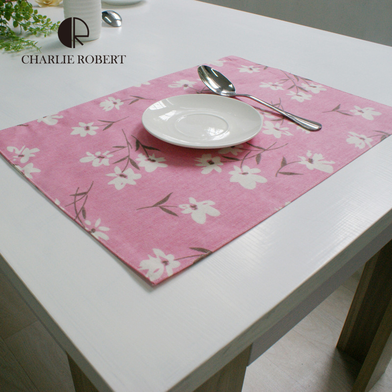 Korean Style Table Mat Cotton Cloth Table Place Mat For Dining Table Thermal Insulation Drink Coasters Desk Accessories(China (Mainland))