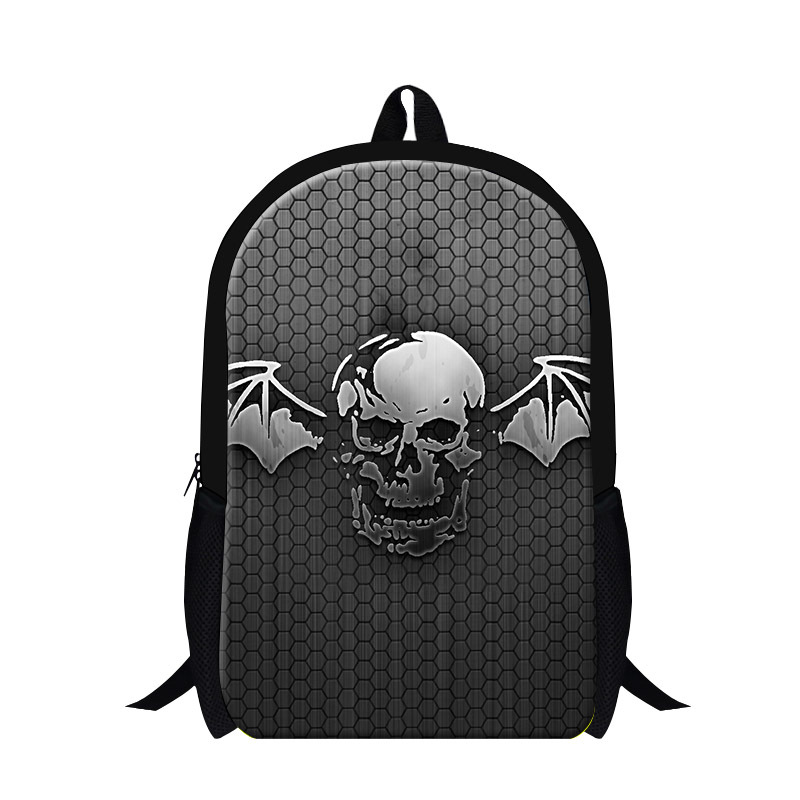 2015 New Arrival Ghost Rider Print Childern School Bags Mens Shoulder Backpack Cool Skull Face Book Bags For Teenagers Boys<br><br>Aliexpress
