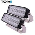 TC X 2PCS 9 Inch 54W LED Light Bar Ultra Flood Lights for Truck Trailer Off