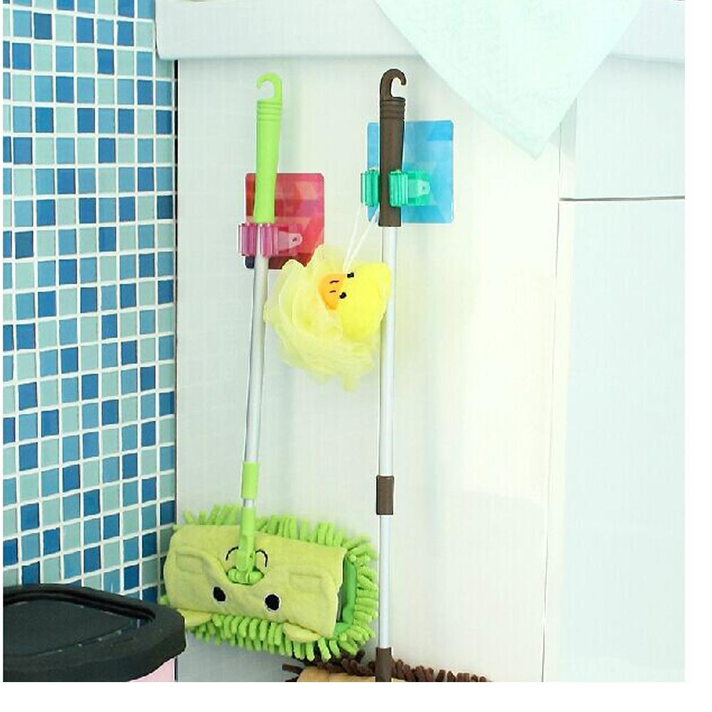 Bathroom Bath Accessories Wall Storage Rack Home Magic Mop Frame Adhesive Stick(China (Mainland))