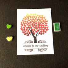 Buy Wedding Fingerprint Tree Love Tree Signature Guest Book Ink Pad Set Wedding Party Graduation Painting 40*30CM-0222 for $6.64 in AliExpress store