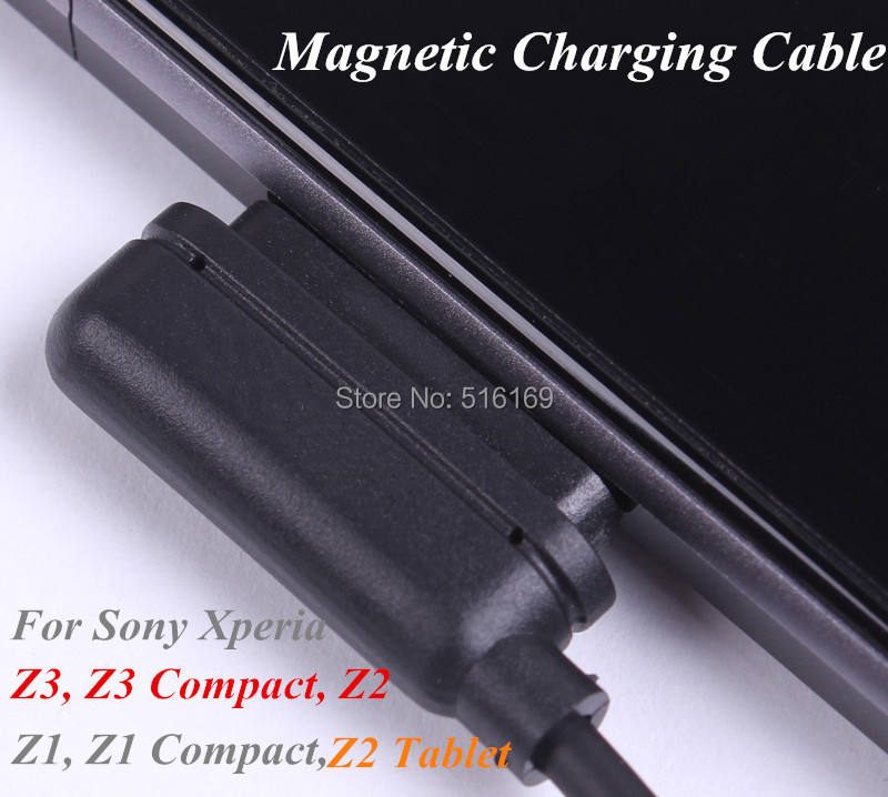 Magnetic Charging Cable For Sony Xperia Z3, Z3 Compact, Z1, Z1 Compact Mini, Z2, Z2 Tablet, Z Ultra Magnetic Charger(China (Mainland))