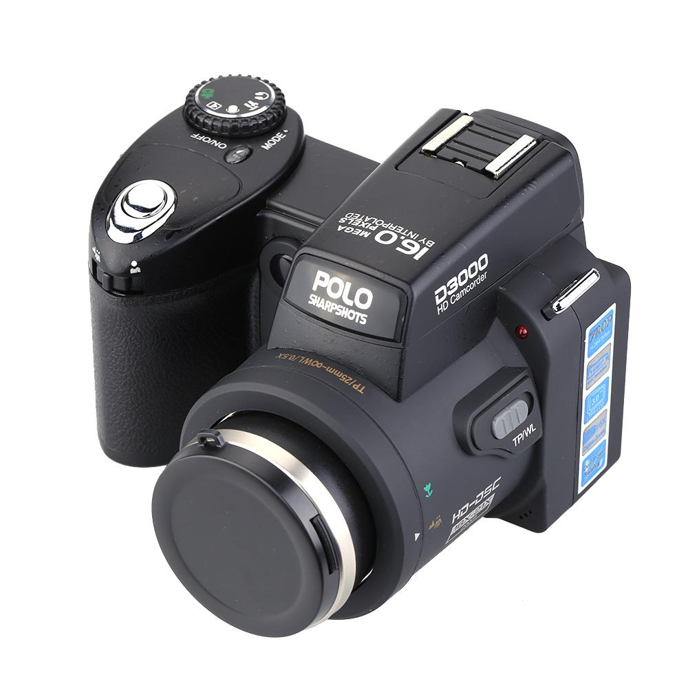 "3.0"" LTPS Screen HD Digital Camcorder Camera Photos 16MP Appareil Photo Reflex 16 Times Telephoto Lens Wide Angle Lens(China (Mainland))"