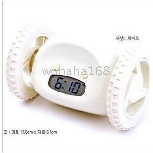 - Fashion & cut [10pcs] Digital Cute Alarm Clock, Wheel Run Away hide and seek with 2 whee