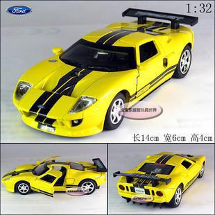 NEW Ford GT 2006 1:32 Alloy Diecast Model Car With Sound&Light Yellow Toy Collection B283(China (Mainland))
