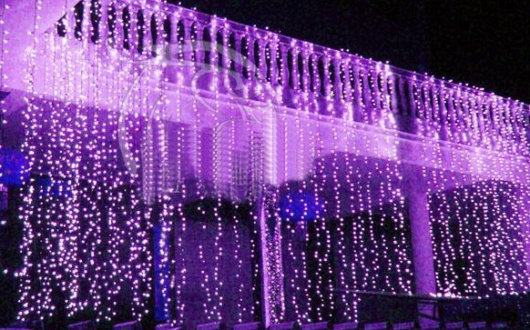 300 LED Window Curtain Icicle Lights String Fairy Light Wedding Party Home Garden Tree Decorations 3m*3m AC110V-250V(China (Mainland))