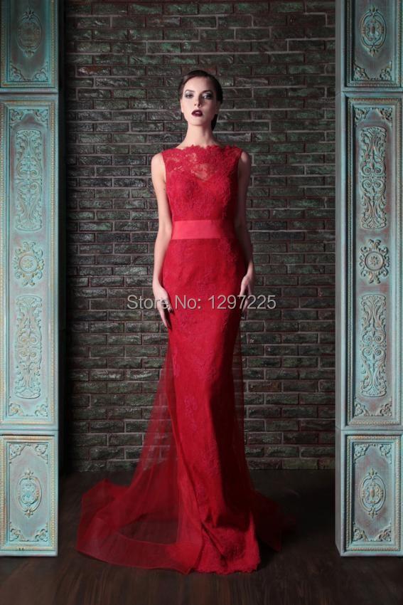 длинные платья красные фото
