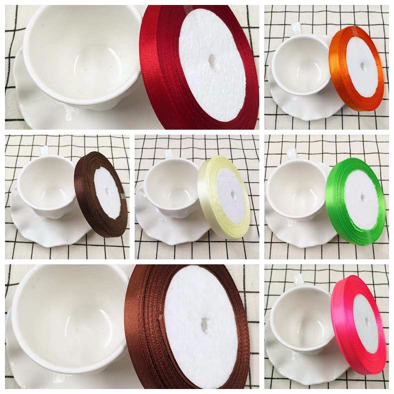 1 cm 25 yards 22 meters silk ribbon wedding Christmas decoration/DIY gift packaging decoration products in the New Year