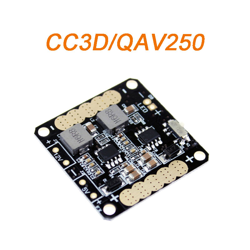 CC3D Flight Controller Power Distribution Board with 5V/12V BEC Output LED Switch for FPV RC QAV250 Across Quadcopter Helicopter(China (Mainland))