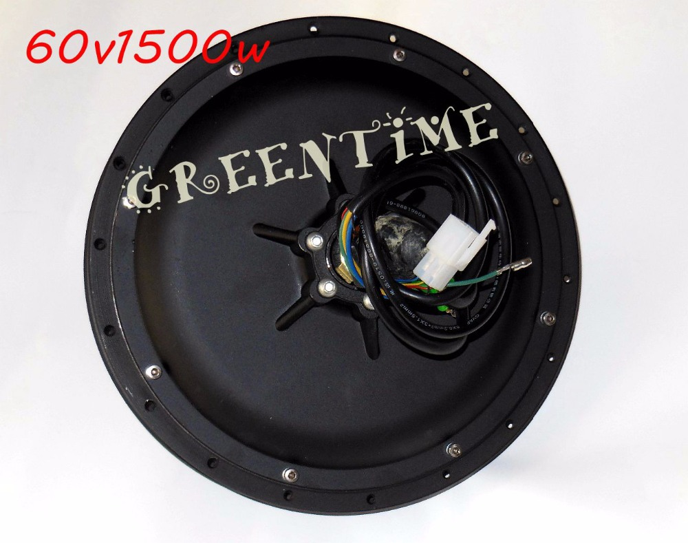 E-bike Hub Spoke Motor 60V 1500W Brushless DC Rear Wheel